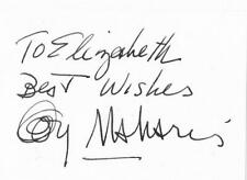 GEORGE MAHARIS SIGNED 3X5 INDEX CARD TV ACTOR AUTOGRAPH ROUTE 66