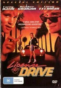 License to Drive DVD Corey Haim Corey Feldman New and Sealed Australia