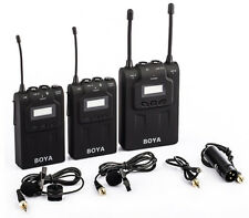 Boya BY-WM8 UHF Dual-Channel Wireless Microphone System For Camera DSLR