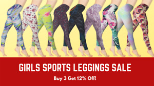 Girls Leggings Sports Gym Printed Ankle-Length Legging 3-12 Yrs Premium Brand