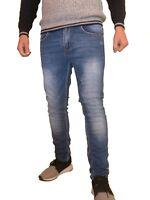 Jeans Panatalone Uomo slim Fit elasticizzato semplice casual 7642