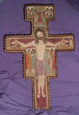 13 plus inch SAN DAMIANO CRUCIFIX Resin St Saint Francis Franciscan