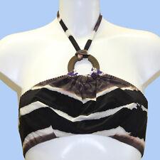 GUESS BY MARCIANO Womens bikini top BNWT purple/black colour size 42/S FE2A83