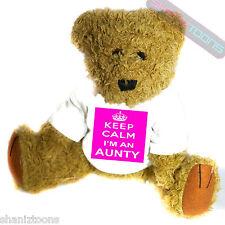 Keep Calm Aunty Novelty Gift Teddy Bear