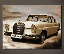 MERCEDES BENZ 300 SE 220 SE W111 Bild Bilder Leinwand Malerei Heckflosse XL