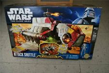 Star Wars The Clone Wars Republic Attack Shuttle 2 Modes in 1 w/ Clone Pilot New