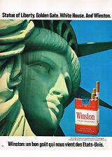 PUBLICITE ADVERTISING 0314   1971   WINSTON   cigarettes STATUE DE LIBERTE