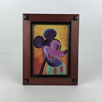 Disney Parks Picture Frame 5x7 Wood Carved Disney Mickey Mouse Ears Beveled