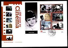 SELLOS TEMA CINE SOBRE MAT.ESPECIAL 1996 LISBOA 100 AÑOS CINE BEATRIZ COSTA