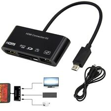 For Samsung Galaxy S3 S4 Note 2 3 Micro USB OTG Card Reader HDMI HDTV TV Adapter