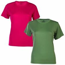 Polyester No Pattern Short Sleeve T-Shirts for Women