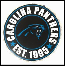 "Carolina Panthers NFL LOGO BOTTLE TOP 13.5"" da appendere Wall Art Decoration"