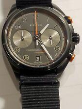 EDOX Men's Chronorally Chronograph watch, Black 43 mm Dial, Swiss Made 09503