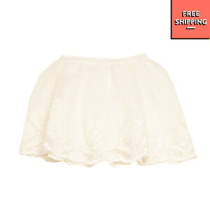 SHE.VER CHIC Flare Skirt Size 44 / 14Y Floral Lace Scalloped Hem