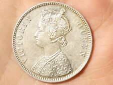 More details for 1862 british india victoria silver one rupee overstrike beautiful grade #td64