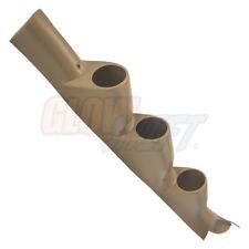 GlowShift Tan Triple Gauge 52mm Pillar Pod for 11-16 Ford Super Duty PowerStroke