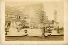 Angleterre Londres Crystal Palace Vintage Print. Tirage albuminé  11x16  C