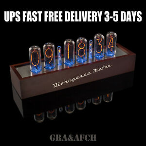 IN-18 Nixie Tube Clock Wooden Case 12/24H Slot Machine FREE Shipping 3-5 Days