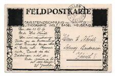 SWITZERLAND: Field postcard  postal stationery 1916.