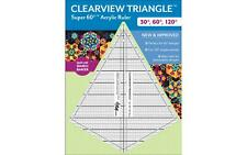 20341 CTP RULER CLEARVIEW TRIANGLE 30 60 120 DEGREE