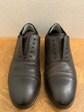Mr B's for Aldo Maslow US Brown Leather Slip On Casual Oxford Cap toe Sz 45/11