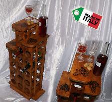 Cantinetta portabottiglie da vino cantina legno porta 15 bottiglie liquore caffè