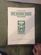 François Dupin One Excitan' dance pour marimba partition éditions Leduc