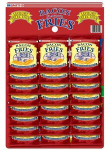 Smiths Bacon Fries Carded 24x24g - FREE P&P NOV 2021 DATED