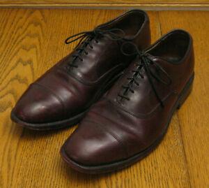 """ALLEN EDMONDS """"Park Avenue"""" burgundy leather Cap Toe DRESS OXFORDS sz 7 D"""