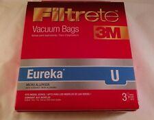 3M Filtrete Vacuum Bags Eureka Type U Micro Allergen 3 Bags