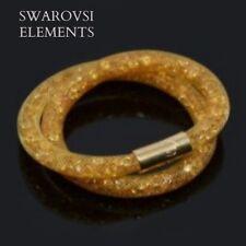 Bracelet collier stardust pourssiere d'étoile Swarovski®Elements résine doré or