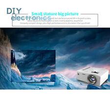 UC18 Mini Portable Projector Screen LCD Projektor 1080P Home LED AV with DVD US