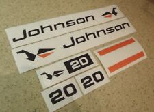 Johnson Vintage Outboard Motor Vintage Decal 20 HP FREE SHIP + FREE Fish Decal!