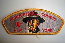 OA BADEN-POWELL COUNCIL SHOULDER PATCH CSP NEW YORK GREY FLAP