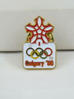 1988 Winter Olympic Games Pin - Full Colour Official Logo Pin
