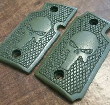 Walnut Wood Grips with Skull Engraving, Olive Drab - Will fit Sig Sauer P938