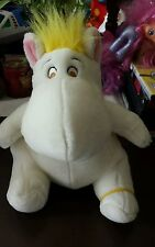 RARE PLUSH DOLL FIGURE  MOOMIN WHITE MOOMIN TROLL TOVE HTF 1996  YELLOW HAIR