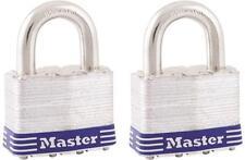 "New Master Lock 5T Pack 2 Laminated Steel Keyed Padlock 3/8"" X 1"" 6075147"