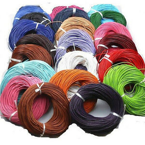 5M Leather Cord String Thread Wire Rope Necklace Bracelet DIY Jewelry Making