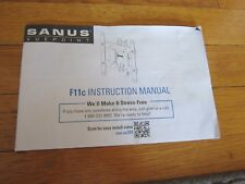 Sanus Vuepoint Instruction Manual ONLY F11c TV Bracket Installation GUIDE ONLY