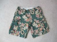 Ralph Lauren Denim & Supply Cargo Shorts Mens Size 36 Green Red Chino Slacks