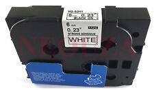 Black on White Label Tape Compatible for Brother TZ TZe S211 211 TzeS211 Tze211