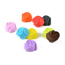 12pc Flower Silicone Rose Muffin CupCake Cookie Cup Cake Baking Mould
