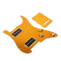 HH Alnico V Loaded Guitar Pickguard Humbucker Neck Bridge Pickup Aluminium Alloy