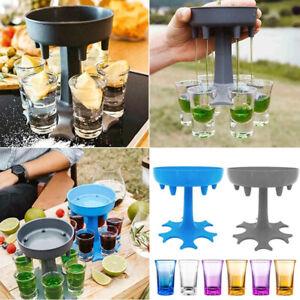 6 Shot Glass Dispenser Holder Drinking Games Shot Glasses Get Party Accessories,
