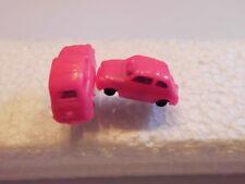 Ohrring mit kleinem pink Auto graue Felgen für alle Auto Fans 4717