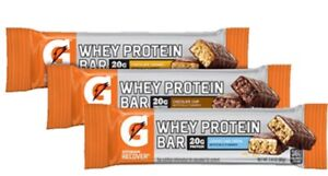 58 ASSORTED Gatorade Recover Whey Protein Bars  57 Bars Total NO RESERVE !