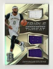 DeMARCUS COUSINS NBA 2016-17 SPECTRA TRIPLE THREAT MATERIALS  (PELICANS,WARRIORS