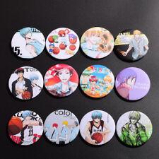 12pcs Anime Kuroko no Basket Kuroko Tetsuya Kagami Taiga Badge Pins Collection