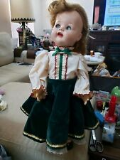 "1950s Ideal Saucy Walker Flirty Eyes Vintage Doll 22"" Original Shoes & Wig"